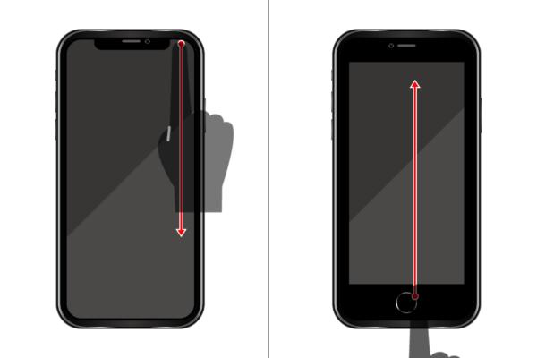 iPhoneでコントロールセンターを開く方法2つ