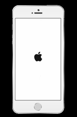 iPhoneの再起動(リンゴマーク)
