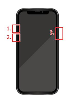 iPhone 8 以降(iPhoneⅩ、iPhone11)の強制再起動