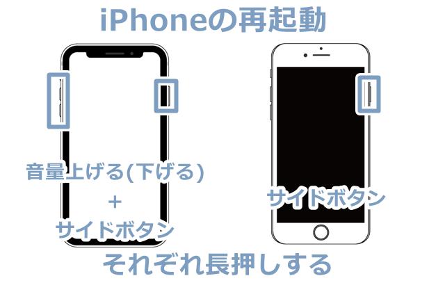 iPhoneXとiPhone8ー再起動